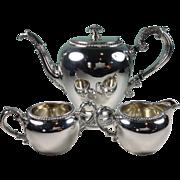 Vintage 1960 Reed & Barton Silver Plate Coffee Pot Creamer & Sugar