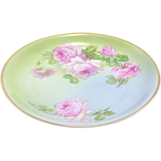 """1909-1935 C.T. Altwasser Silesia 8.5"""" Hand painted plate with Pink Roses"""