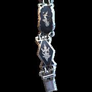 REDUCED Vintage Siam Sterling bracelet engraved Mekkala