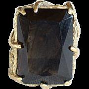 REDUCED Vintage brown topaz sterling silver gold vermeil ring