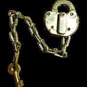 SOLD L & N Railroad Lock and Key