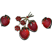 SARAH COVENTRY Brooch Pin and Earring Set