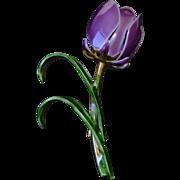 VINTAGE Tulip Brooch Pin