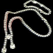 KRAMER Rhinestone Lingerie Necklace-Bracelet Set