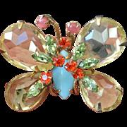 REDUCED Schreiner NEW YORK Butterfly Brooch Pin