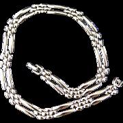 Modernist MONET Silver-Tone Necklace