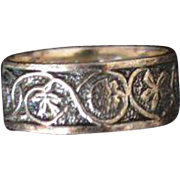 Romantic STERLING Silver Band Ring From the Library of Congress