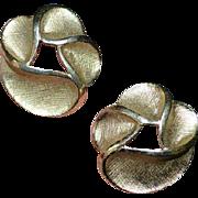REDUCED TRIFARI Gold Tone Earrings