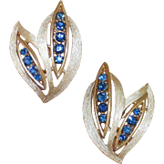 Faux Sapphire Vintage TRIFARI Earrings