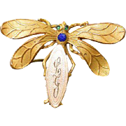 Vintage Dragonfly Brooch Pin
