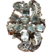 Eisenberg Rhinestone Swirl Brooch Pin