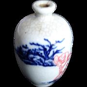 An old porcelain snuff bottle