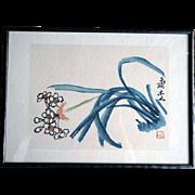 REDUCED Qibaishi Woodblock Print-齐白石木版水印- Chinese Ink painting