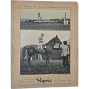 "REDUCED Bert Morgan ""The Saratoga Cup"" Track Photo c.1945"