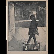 SOLD Chaim Koppelman (1920-2009) Homage a Degas c.1969