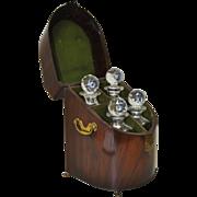 REDUCED Early 19th Century Mahogany Cased Liquor Decanter Set