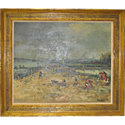 REDUCED French Impressionist Oil Painting c.1950
