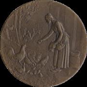 REDUCED Henri Dubois Bronze Medallion c.1910