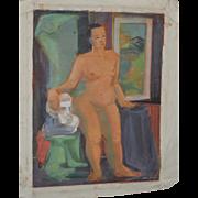 REDUCED 1940's Figurative Nude Study by Nancy Larsen