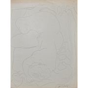 REDUCED John de Martelly (American 1903-1980) Original Pen and Ink Figural Nude c.1956