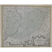 REDUCED A Map of Hradiste Region by Johann Baptist Homann c.1720