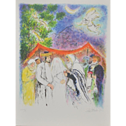 SOLD Ira Moskowitz (1912-2001) Color Lithograph c.1970's
