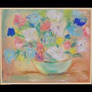 REDUCED Vintage Pastel Floral Still Life by Oloff