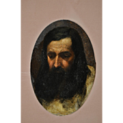 REDUCED 19th Century Oil Painting of Jesus