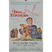 "SOLD Vintage Movie Poster ""A Dog of Flanders"" c.1959"