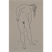 REDUCED Figural Nude Study by Hagedorn 1960's