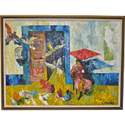 REDUCED Vintage Impasto Painting by Arnold c.1960