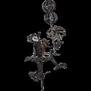 REDUCED Joseph Burlini Metal Sculpture w/ Enamel Highlights c.1969