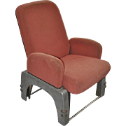 REDUCED Art Deco Railroad Seat c.1930