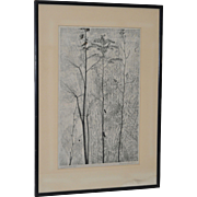 Eugene Larkin (1921-2010) Woodcut c.1960