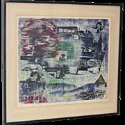 Bernd Kroeber Woodblock and Linoleum Monotype c.1969