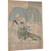 REDUCED American Weekly San Francisco Examiner Full Color Page 1919