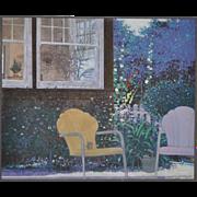 """""""Summer in Professorville"""" Original California Oil Painting"""