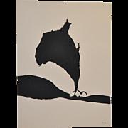 """Robert Motherwell """"Africa No.9"""" Silkscreen c.1970"""