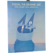 Jean-Michel Folon Exhibit Poster 1970s