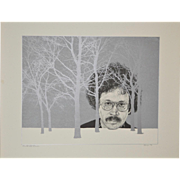 Fine Art Serigraph w/ Silver Metallic Highlights c.1976