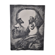 SOLD GEORGES ROUAULT Signed Etching of Paul VERLAINE c.1933 - Signed by Roualt