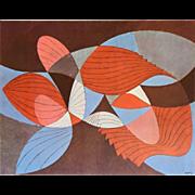 "SOLD Herbert Bayer (BAUHAUS) Lithograph ""Composite Structure"" c.1965"