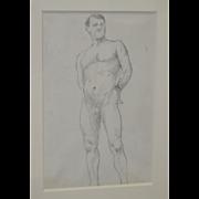 Vintage Nude Study by Duveneck