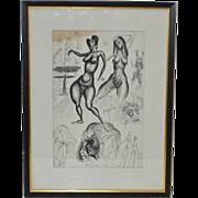 Charles M Ware Illustration Female Nude Studies c.1962