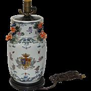 19th Century Porcelain Lamp Base