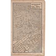 REDUCED Vintage Book Page San Francisco Map c.1930's