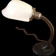SOLD Vintage Goose Neck Desk Lamp