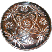SOLD Early American Prescut Star of David rare Plate 6 1/2 inches