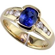 SOLD Sapphire Diamond 14K Ring - Red Tag Sale Item