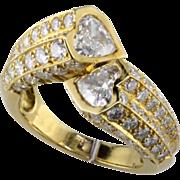 2.6 ct. Heart Diamond 18K Ring